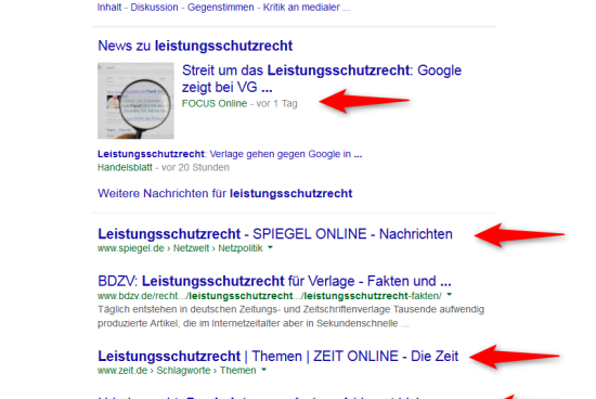 Die Auswirkungen des Leistungsschutzrechts auf die Google-Suche